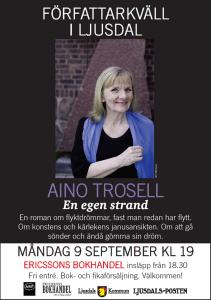 Aino Trosell gästar Ljusdal den 9 september