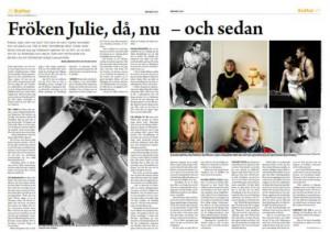 Arbetaren om Strindberg, Fröken Julie och Trosells Nyårsnatt